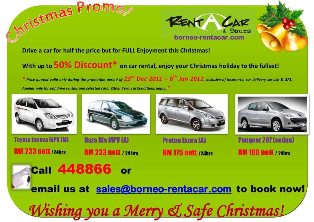 Rentacar Christmas Promotion